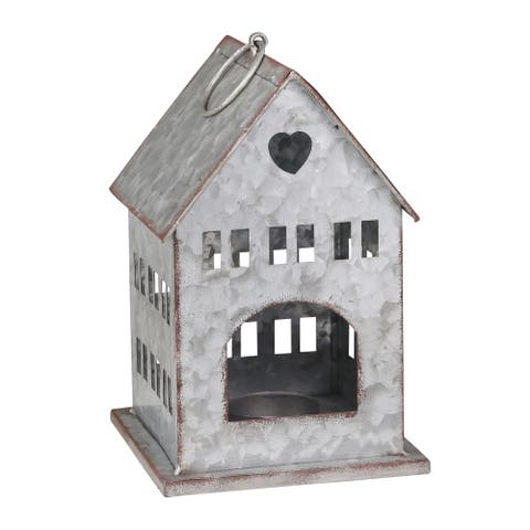"Tin 9"" Bird House"