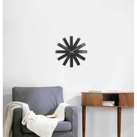 "Umbra 118070 12"" Diameter Ribbon Steel Analog Accent Clock"