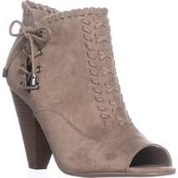Indigo Rd. Finn Peep-Toe Ankle Booties, Medium Natural