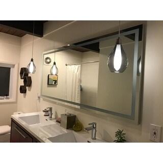 Shop Lighted Led Mirror Harmony Illuminated 70 X 32 Inches