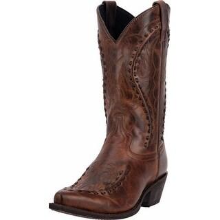 "Laredo Western Boots Mens 12"" Rust Toe Bucklace Snip Rust"