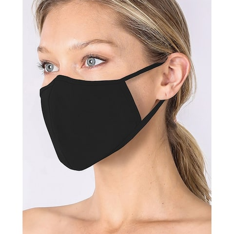 3-PACK UNISEX Non-Medical Washable Cotton Face Mask w/ Filter Pocket