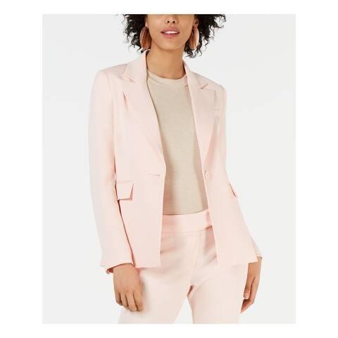 RACHEL ZOE Womens Pink Wear To Work Jacket Size 12