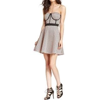 Material Girl Womens Juniors Casual Dress Matte Jersey Printed