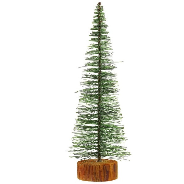 "11"" Green Bottle Brush Artificial Mini Pine Christmas Tree"