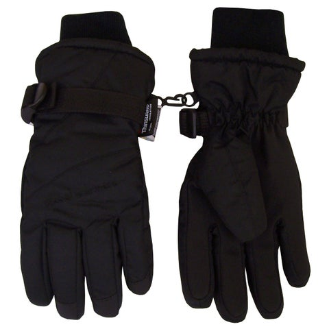 NICE CAPS Adults Unisex Thinsulate and Waterproof Premier Colorblocked Ski Gloves - Black