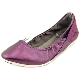 Cole Haan Zerogrand Stagedoor Ballet Women C Leather Purple Ballet Flats