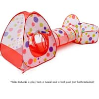 Children Girls Pop Up Play Tent + Tunnel + Ball Pool Toddlers Pets Play Tent (NO ball included)