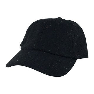 Wool Confetti Sparkle Unstructured Adjustable Strapback Dad Cap Hat by CapRobot - Black