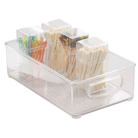 "InterDesign 64330 Clear Kitchen Bin, 10"" x 6"" x 3"""