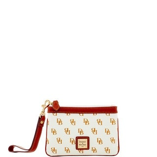 Dooney & Bourke Gretta Medium Wristlet (Introduced by Dooney & Bourke at $58 in Feb 2017) - white tan