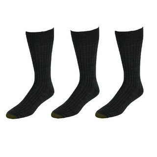 Gold Toe Men's Windsor Wool Socks (Pack of 3), Shoe Size 6 - 12 1/2