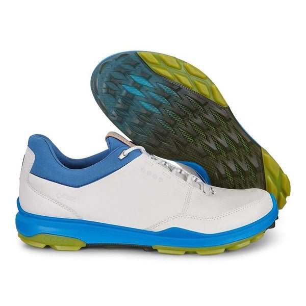 c74bee4bc4 Shop Ecco Mens Biom Hybrid 3 GTX White/Kiwi 46 Euro 12-12.5 Yak Golf Shoes  - Free Shipping Today - Overstock - 28069638