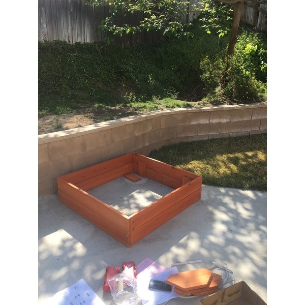 Sand For Backyard shop backyard discovery sunny cedar wooden sand box - free shipping