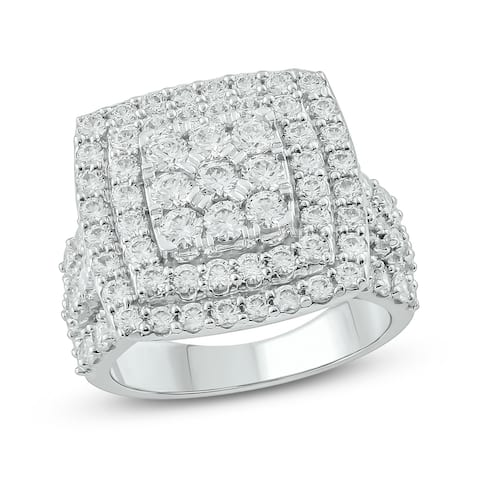 Cali Trove 10KT White Gold in 3 ct TDW Engagement Ring.