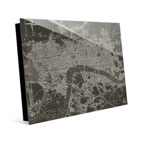 Kathy Ireland The River Thames Map on Acrylic Wall Art Print