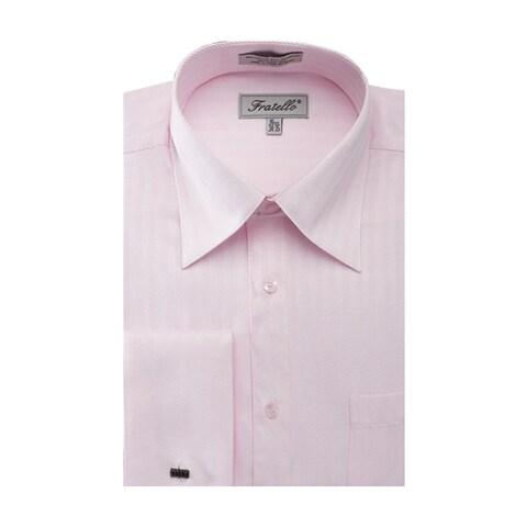 Men's Herringbone French Cuff Shirt 2