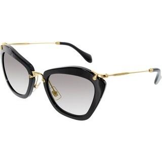 Miu Women's Gradient MU10NS-1AB3M1-55 Black Butterfly Sunglasses