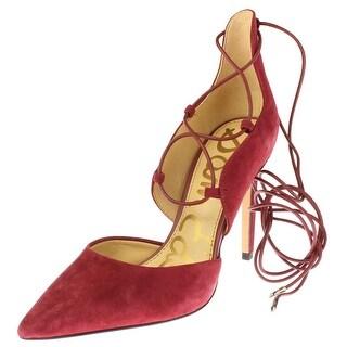 Sam Edelman Womens Helaine Lace-Up Heels Suede Pumps