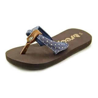 Reef Little Reef Scrunch Open Toe Canvas Flip Flop Sandal