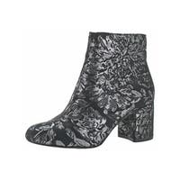 Jessica Simpson Womens Ruella  Ankle Boots Metallic Floral Print