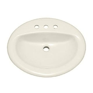 """PROFLO PF20174 20-1/2"""" Self Rimming (Drop-In) Oval Bathroom Sink - 3 Holes Drilled"""