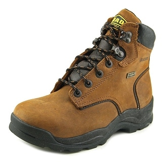 "Lacrosse Quad Comfort 4x6 6"" Men Round Toe Leather Brown Work Boot"