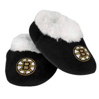 Forever Collectibles Baby Boston Bruins Fabric Slip On Slippers