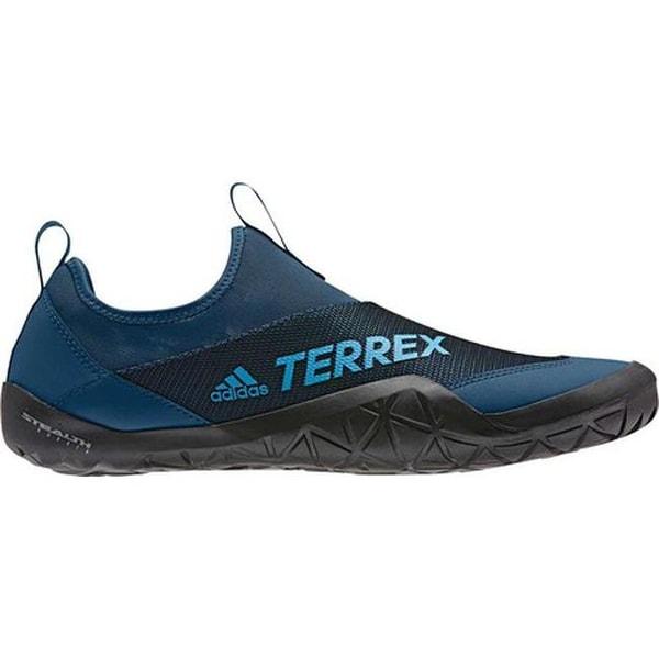 4efb60adaca5 Shop adidas Men s Terrex Climacool Jawpaw II Slip On Water Shoe Legend  Marine Shock Cyan Black - Free Shipping Today - Overstock - 25753232