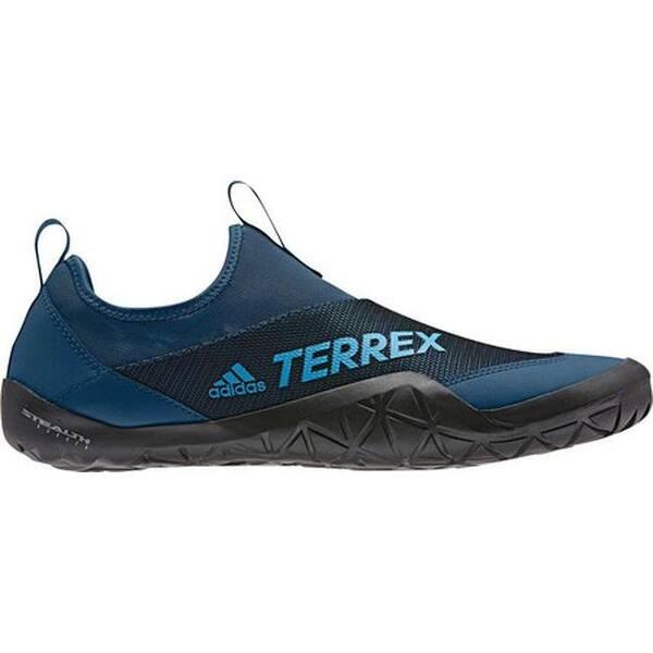 new styles c27ec 8de63 adidas Men's Terrex Climacool Jawpaw II Slip On Water Shoe Legend  Marine/Shock Cyan/Black