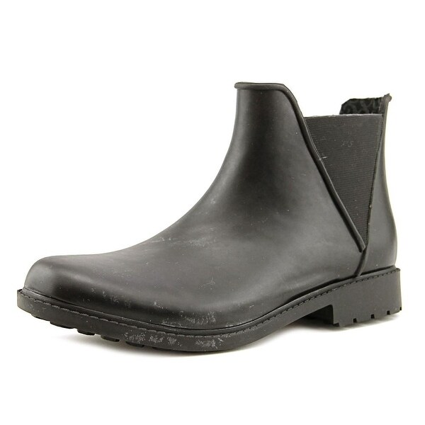 Chooka Autograph Bootie Women Round Toe Synthetic Black Rain Boot