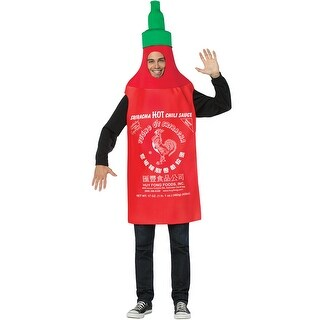 Sriracha Tunic Costume, Fleece Sriacha Costume - as shown - One Size Fits Most