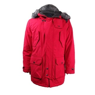 Nautica Men's Faux-Fur Quilted Parka - Nautical Red