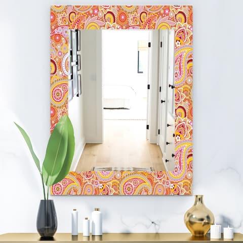 Designart 'Paisley 2' Mid-Century Mirror - Wall Mirror