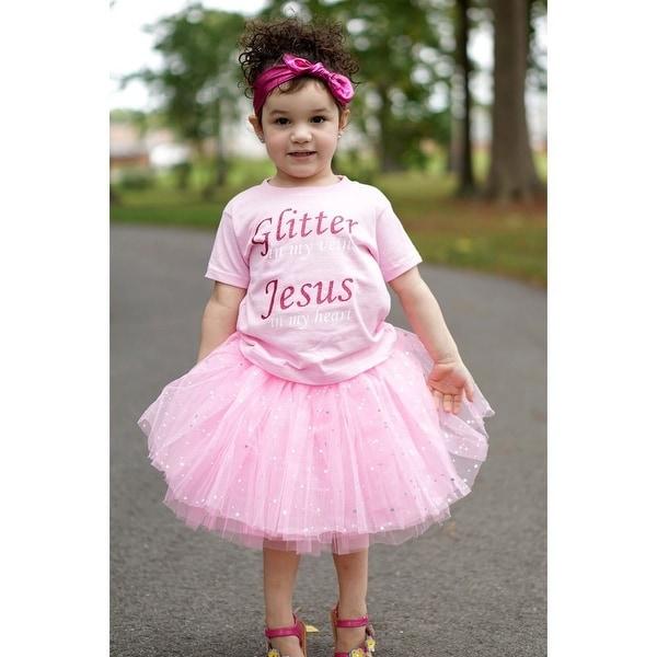 Little Girls Light Pink Sequin Satin Elastic Waist Ballet Tutu Skirt 2-8Y