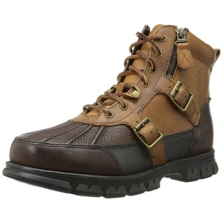 POLO Ralph Lauren Mens Demond Leather Closed Toe Ankle