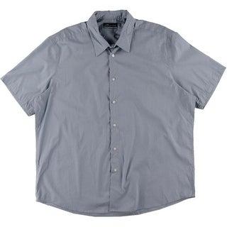 John Ashford Mens Shadow Stripe Short Sleeves Button-Down Shirt