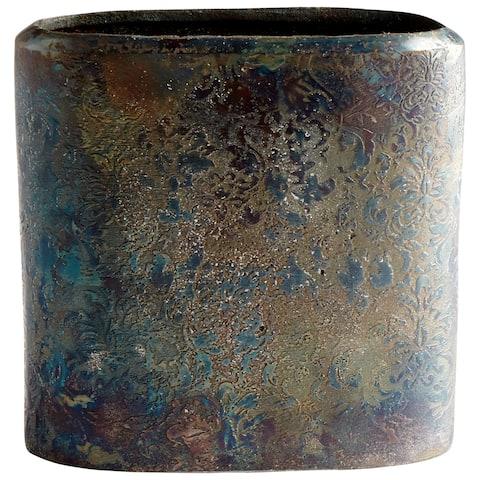 "Cyan Design 08962 Inscribed 7-1/4"" Wide Aluminum Vase"