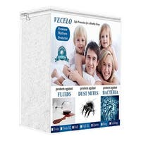 Hypoallergenic Waterproof Bed Mattress Protector/Cover, Vinyl Free, Twin/Full/Queen Size, White