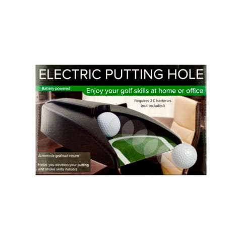 """10.5"""" Black and Green Electric Golf Putting Hole - N/A"""