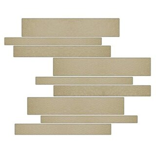 Miseno MT-G1FRAN Horizontal Mosaic Wall Tile (10.92 SF / Carton) - Tan