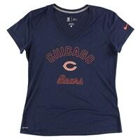 Nike Womens Chicago Bears NFL Football Legend V Neck T Shirt Navy Blue -  navy blue 860adef70