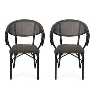 Deals on 2 Christopher Knight Home Meaux Outdoor Parisian Cafe Chair