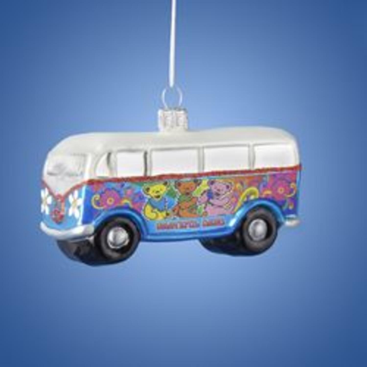 Grateful Dead Christmas Ornament.Pack Of 6 Grateful Dead Dancing Bears Van Glass Christmas Ornaments 4