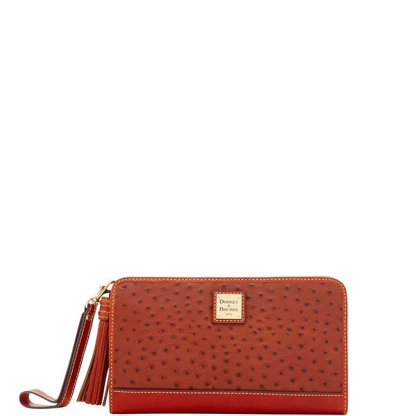 Dooney & Bourke Ostrich Embossed Leather Alice Wristlet Clutch Wallet (Introduced by Dooney & Bourke at $168 in Apr 2018)