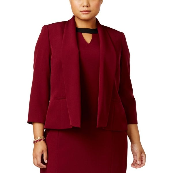 34416102b78 Shop Kasper Womens Plus Open-Front Blazer Shawl Collar Work Wear - Free  Shipping On Orders Over  45 - Overstock - 25669934