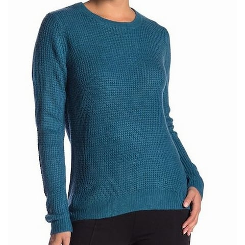 JOE FRESH Women's Peacock Blue Size Medium M Knit Crewneck Sweater
