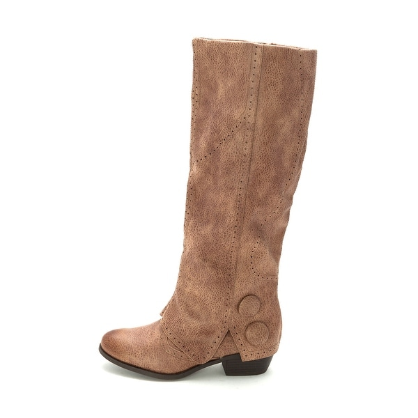 Not Rated Womens Bashful Fabric Almond Toe Knee High Cowboy Boots