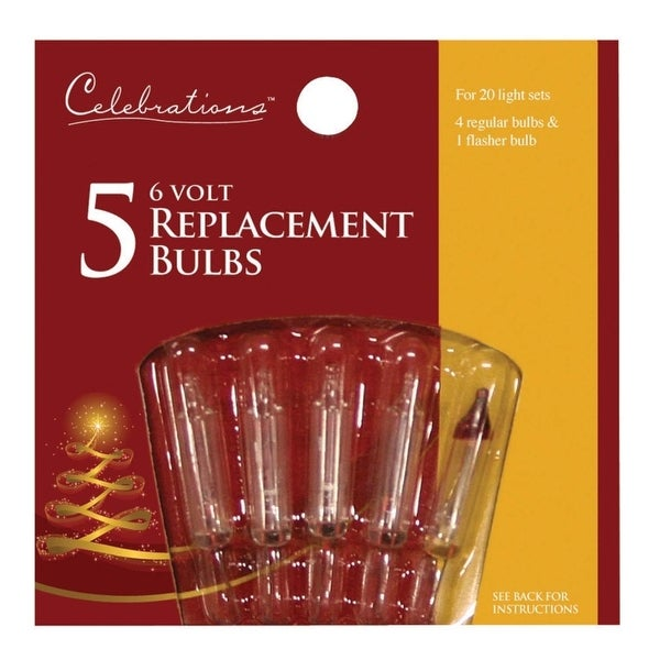 Celebrations 1155-2-71 Mini Replacement Bulbs, 6 V, Clear