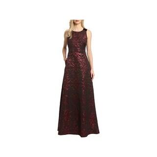 Badgley Mischka Womens Evening Dress Sleeveless Full-Length